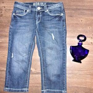 hydraulic 9 - 10 woman jean capris capri pants